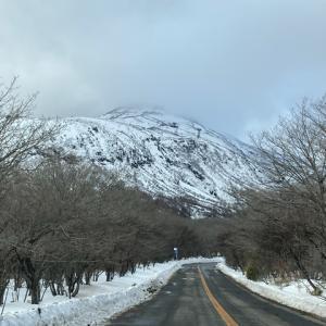 冬の駒止の滝