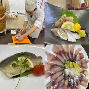 魚を3枚におろす、および調理講座に参加してきました♫