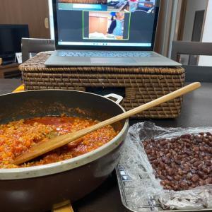 ひたすらみじん切り大会‼️子どもお料理教室、ミートソーススパゲティ作りお