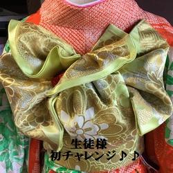 他装の教室『振袖帯結び』羽根の作り方 しっかりお伝えしています(^^)/