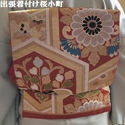 お宮参りのお客様、お祖母様の素敵な帯を締められました(*^^*)