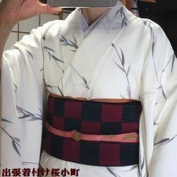 帯は同じですが、着物を替えてみました(*^^*)