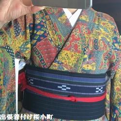 地区の女子会へ小紋を着て行きましたヨ(*^^*)