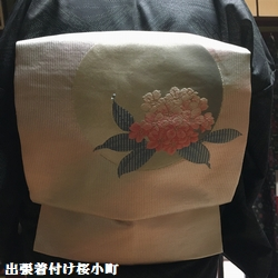 紬の着物に名古屋帯のお客様(*^^*)