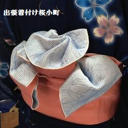浴衣のお客様 帯でお花を作って。。。(*^^*)