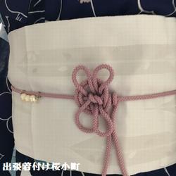 浴衣作り帯、飾り紐は可愛く。。(*^^*)v