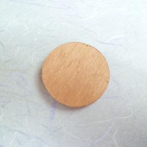 木彫ブローチ「福達磨」~フクロウ~再製作P1