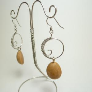 wire twist jewelry  ピアス