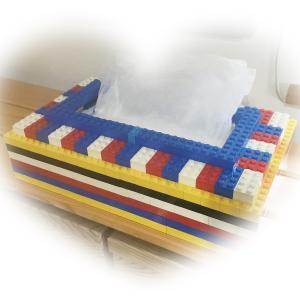 レゴで ティッシュカバー作り♪