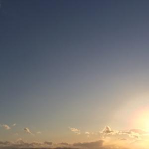今日の空  夕空