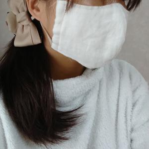 大きいサイズ☆オーダー割烹着 と、マスクの形を変えました