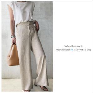 ZARAのサラリ履けるリネンワイドパンツは夏に心地いい!