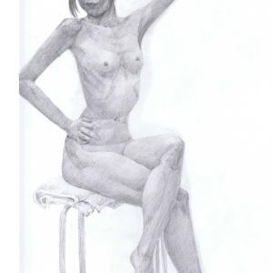 デッサン活動記録2016年6月25日(土)たのしい人物画 モデルつかさ