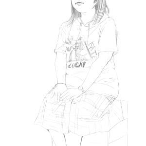 スケッチ活動記録2016年9月3日土曜日 第43回伏見人物スケッチ モデルhiro(30代女性)