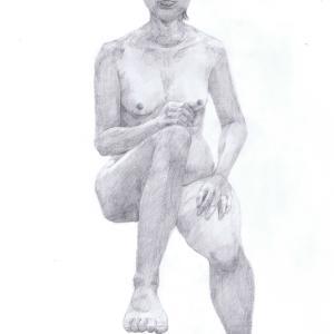 デッサン活動記録2016年11月9日(水)たのしい人物画 モデルもえ