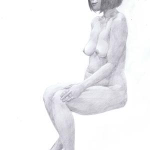 デッサン活動記録2016年11月15日(火)たのしい人物画 モデル新人美沙