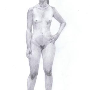 デッサン活動記録2017年1月25日(水)たのしい人物画 モデルもえ
