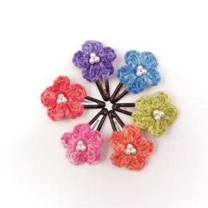 段染め小花のパッチンピン 6色更新☆
