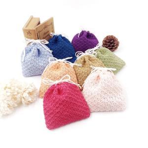 レースの手編み巾着袋