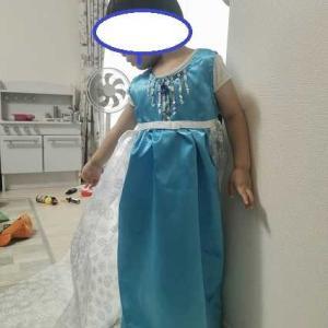 エルサのドレスでやんちゃをするR
