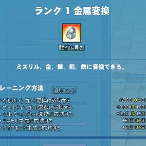 【マビノギ】悲報:一度もスキルを使わず金属変換ランク1