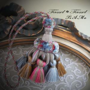 7色のシルク糸で作りました