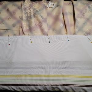 長襦袢、広衿タイプに半衿を付ける