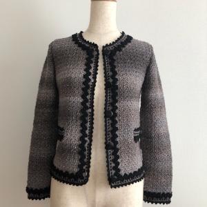 [完成]縁飾りが上品なスーツのジャケット
