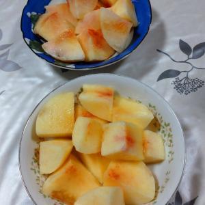 桃食べすぎ疑惑。