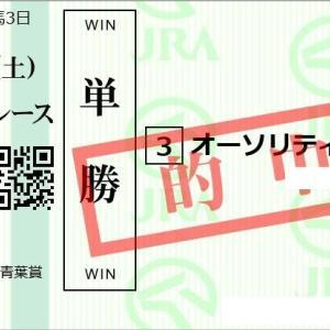 全レース会員限定配信 青葉賞馬単本線大的中!