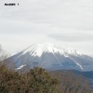<岡山所属のYドライバーさん>冠雪の大山(^.^)