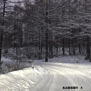 <名古屋所属のAドライバーさん>一面の雪景色