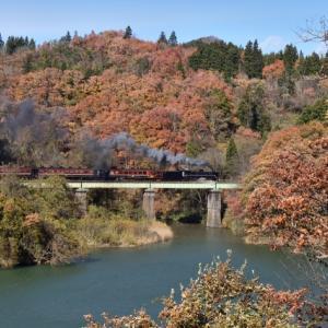 ばんえつ物語(2019/11/17上り徳沢・大谷川橋りょう)