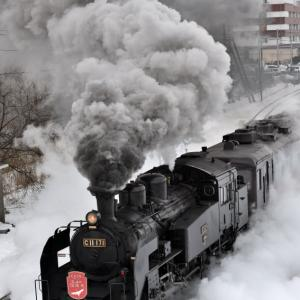 SL冬の湿原号(2020/2/16上り釧路駅発車)