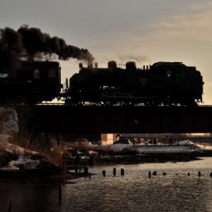 SL冬の湿原号(2020/2/15・16下り細岡・釧路川橋りょう)