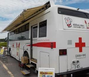 献血15回目は、地元西尾市一色さかな広場