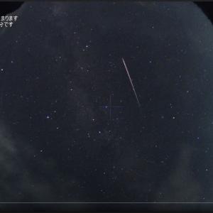 長経路も写ったペルセウス座流星群!