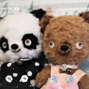 ニマッとパンダ&栗色熊ちゃん…オトドケシマシタ~♬