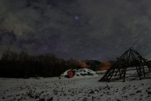 雪景色の梅ノ木遺跡