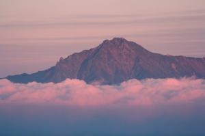 モルゲンロートの赤岳
