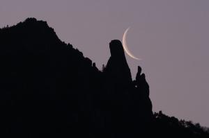 瑞牆山の夜明け