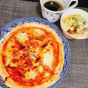 ダイエットごはん☆51.8kg コストコチキンスープとピザ☆