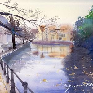 10月産経学園 透明水彩「秋の訪れ」