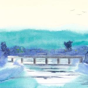 10月水彩色えんぴつ風景画コース「村雨 京都河原町」