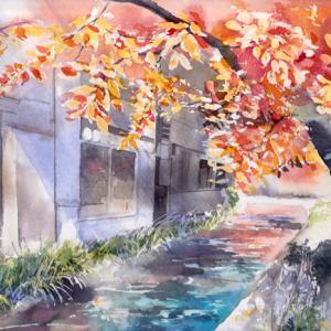 11月産経学園透明水彩「秋の日に」