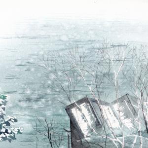 2月水彩色えんぴつ風景画コース「伊根の早春」