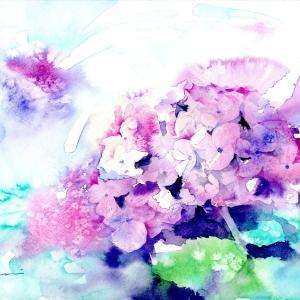 6月水彩色えんぴつ教室「あじさい」