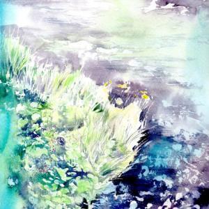 6月水彩色えんぴつ風景画コース「川くさしげる」