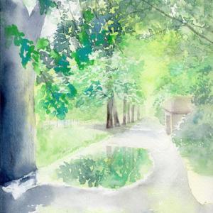 7月水彩色えんぴつ風景画コース「雨上がり」