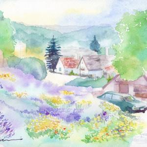 7月水彩色えんぴつ風景画コース「絵本のような町 ティハニー」